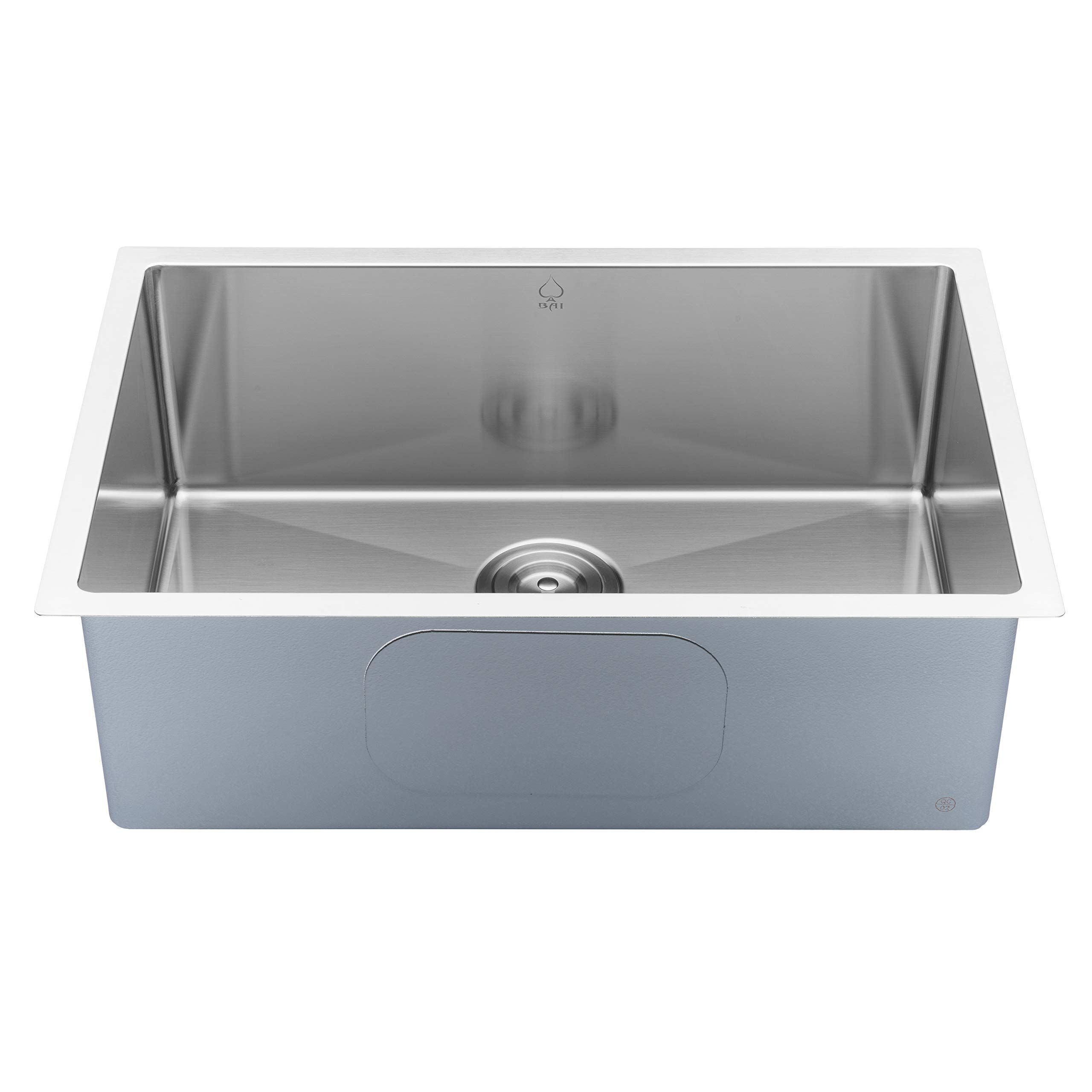 Bai 122127 Handmade Stainless Steel Kitchen Sink Single Bowl Under