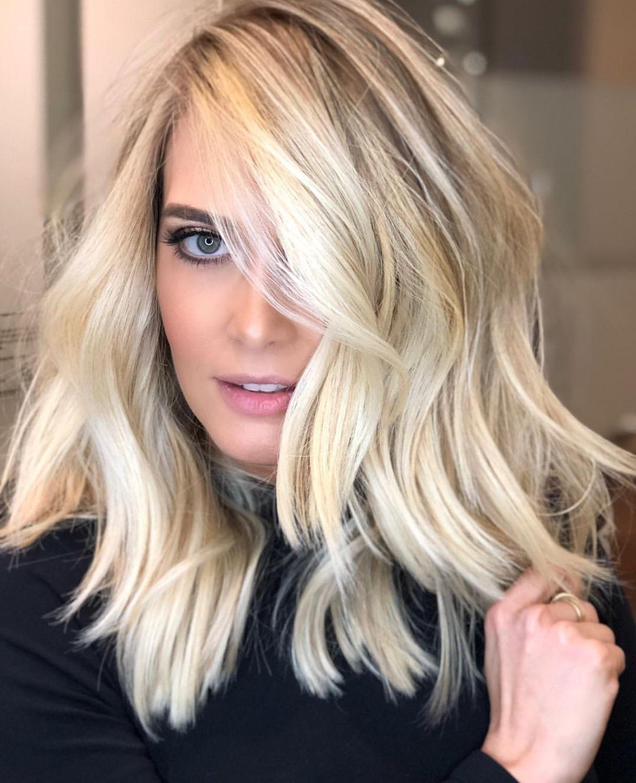 Super Hero Blonde Winterfrisuren Eisblond Winter Haarfarbe