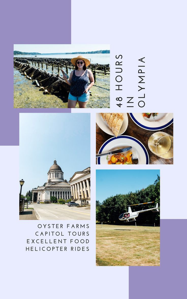48 Hours in Olympia, WA || Oyster Farms, Capitol Building Tours, Helicopter Rides, Amazing Local Food, French Cuisine, Geoduck Crudo, Oysters, Olympia Peninsula, Travel Guide, Travel Vlog and Beer Festival || #travelguide #olympia #washingtonstate #oysterfarm #helicopter #washington #pacificnorthwest #travelblog