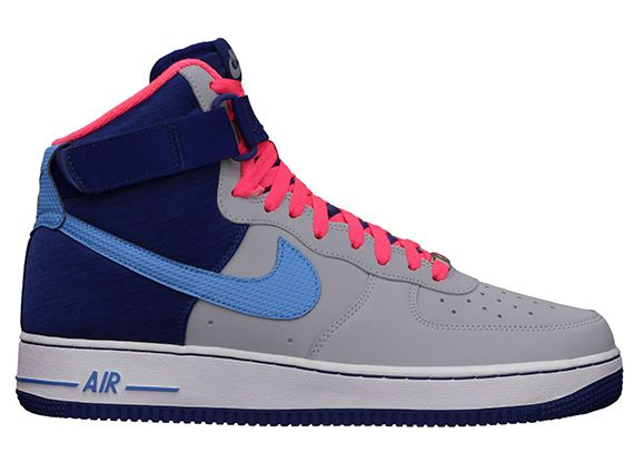 nike air force 1 high wolf grey deep royal and blue