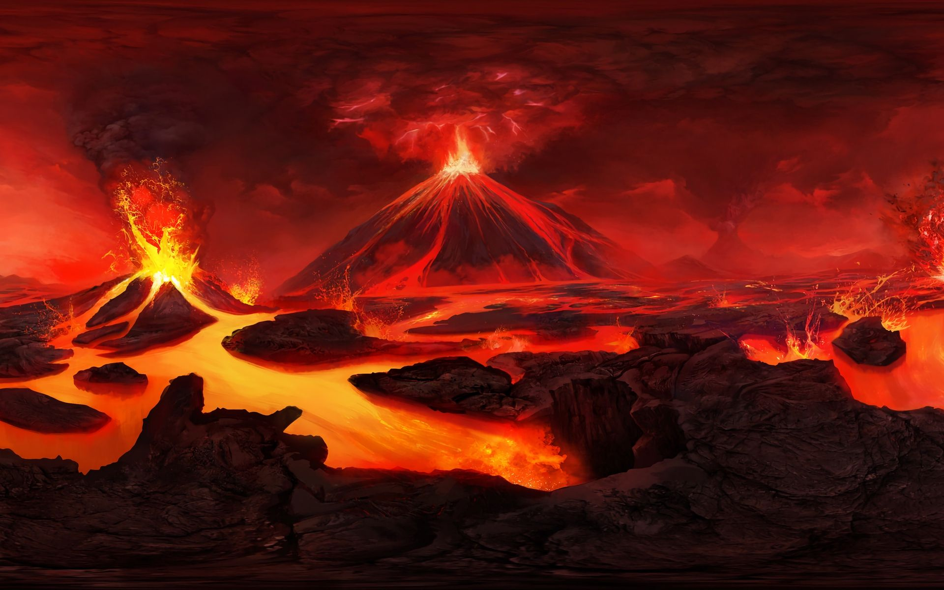 Volcano Eruption Hd Wallpaper Volcano Wallpaper Landscape Wallpaper Hd Wallpaper