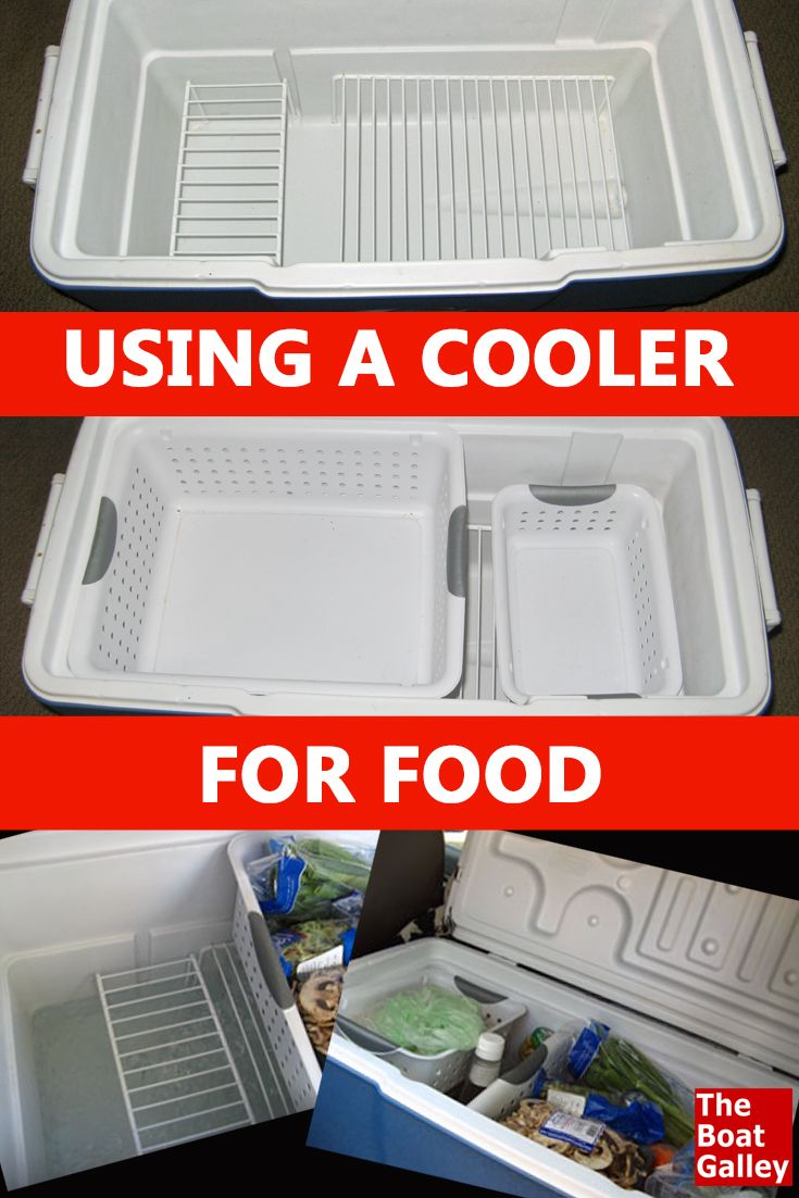 How To Use An Ice Box Cooler For Food Storage The Boat Galley