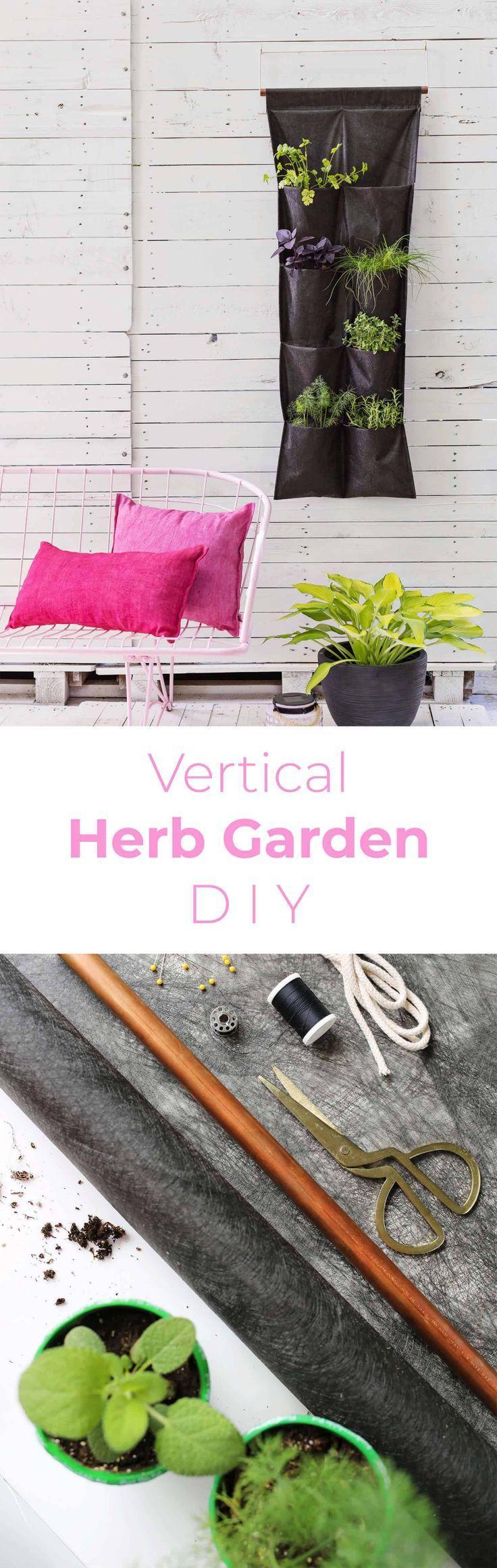 Kleiner Raum vertikaler Herb Garden #kleinekräutergärten