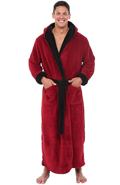 Alexander Del Rossa Mens Fleece Robe ef619e68c