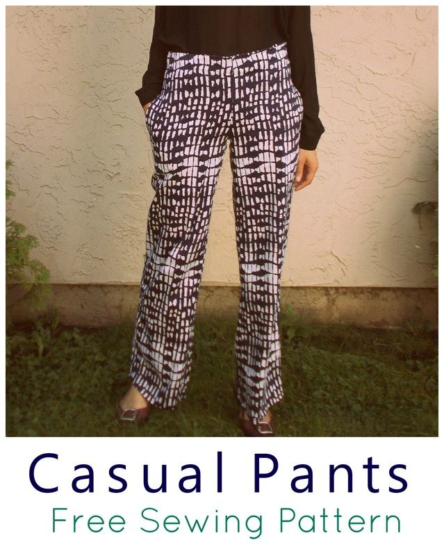 FREE SEWING PATTERN: Casual Pants - On the Cutting Floor: Printable ...