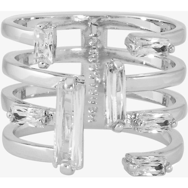 Henri Bendel Luxe Modern Stack Ring (€79) ❤ liked on Polyvore featuring jewelry, rings, silver, henri bendel rings, stacking rings jewelry, stackable rings, henri bendel and henri bendel jewelry