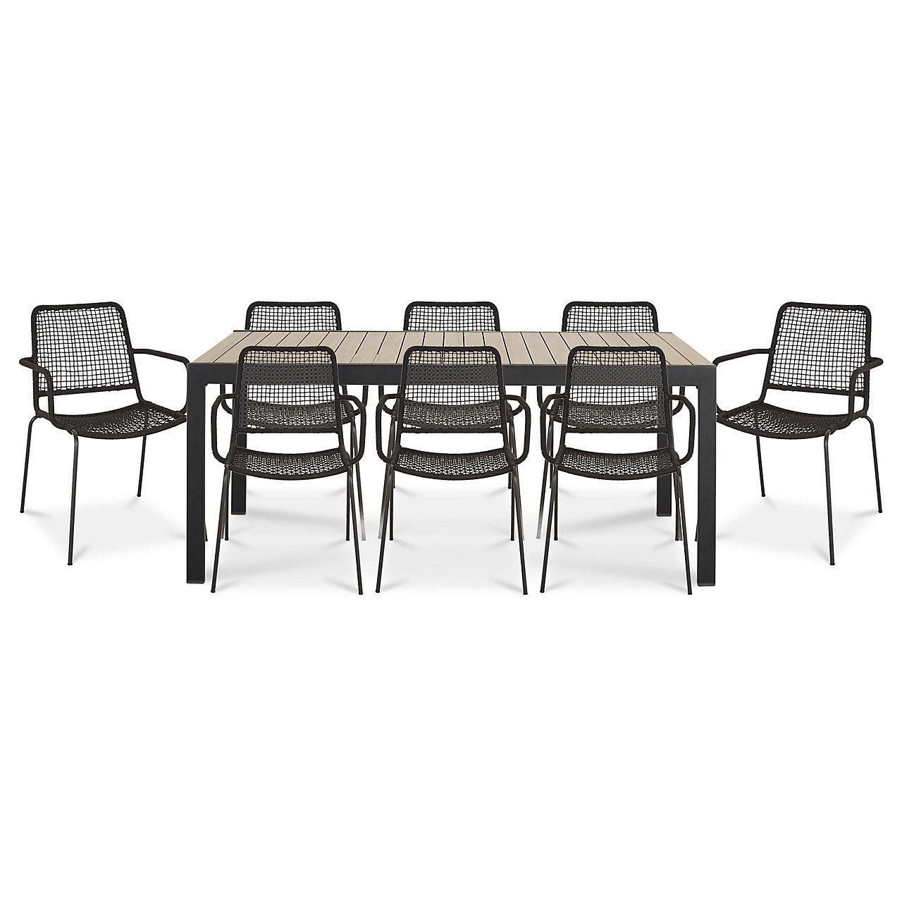 Oberon Metal 8 Seater Dining Set With Images B Q 400 x 300