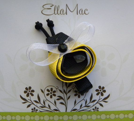 Bee hair clips!! OMG Cute as can BEE will have to have some of these!!