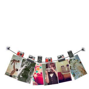 Clipit -  Kameras Foto und Nachrichten Wäscheleine: Image 1