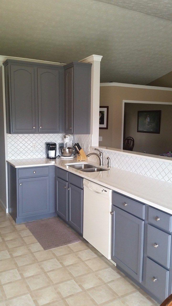 Updated Oak Kitchens | Grey painted kitchen, Oak kitchen ...