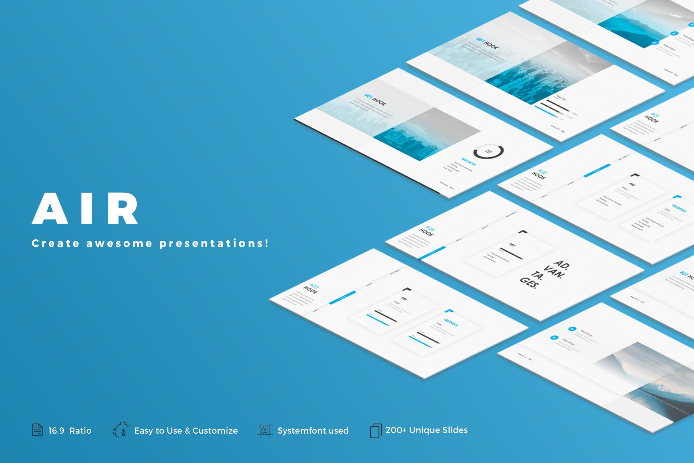This is 1 of 1000s of beautiful presentation templates ready to use air powerpoint template by haluze on envato elements toneelgroepblik Gallery