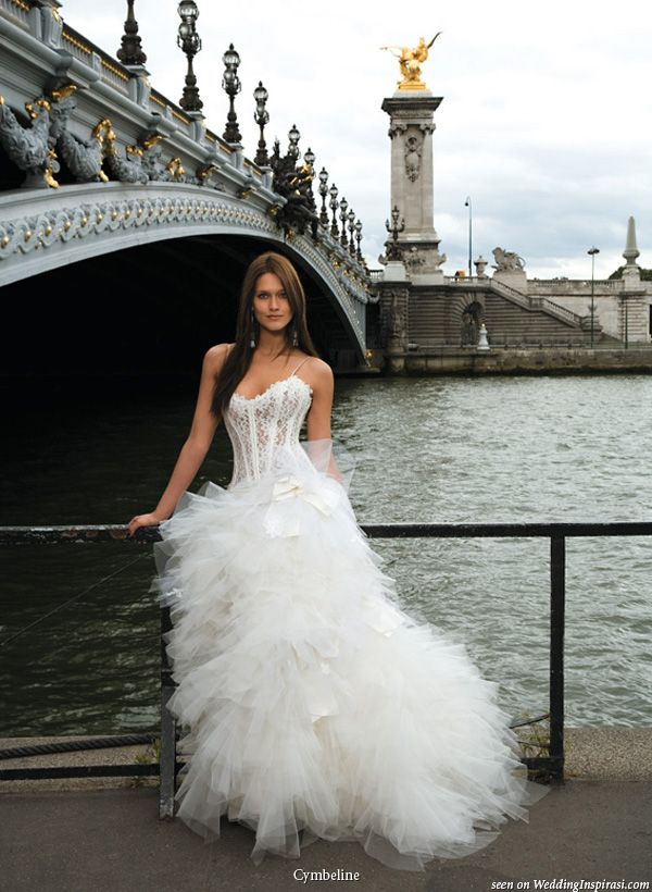 Beau Corset Wedding Dress With Ruffle Skirt From Cymbeline Paris 2010 Collection