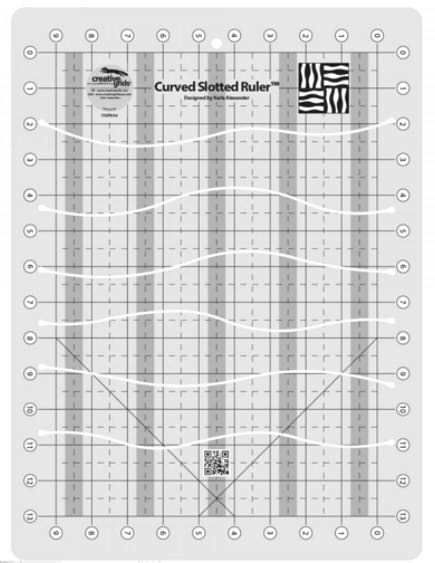 Creative Grids Curves Slotted Ruler 11 X 15 Cgrka4 Creativegrids Ruler Quilting Rulers Quilting Templates