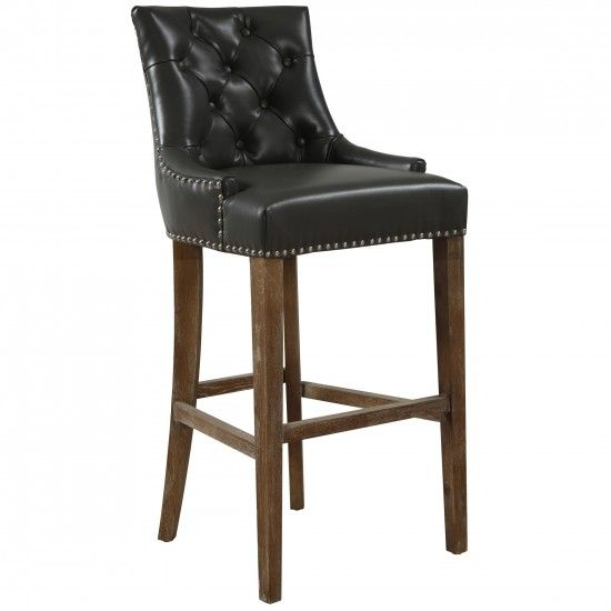 Uptown Leather Bar Stool Grey Dining Stools Dining