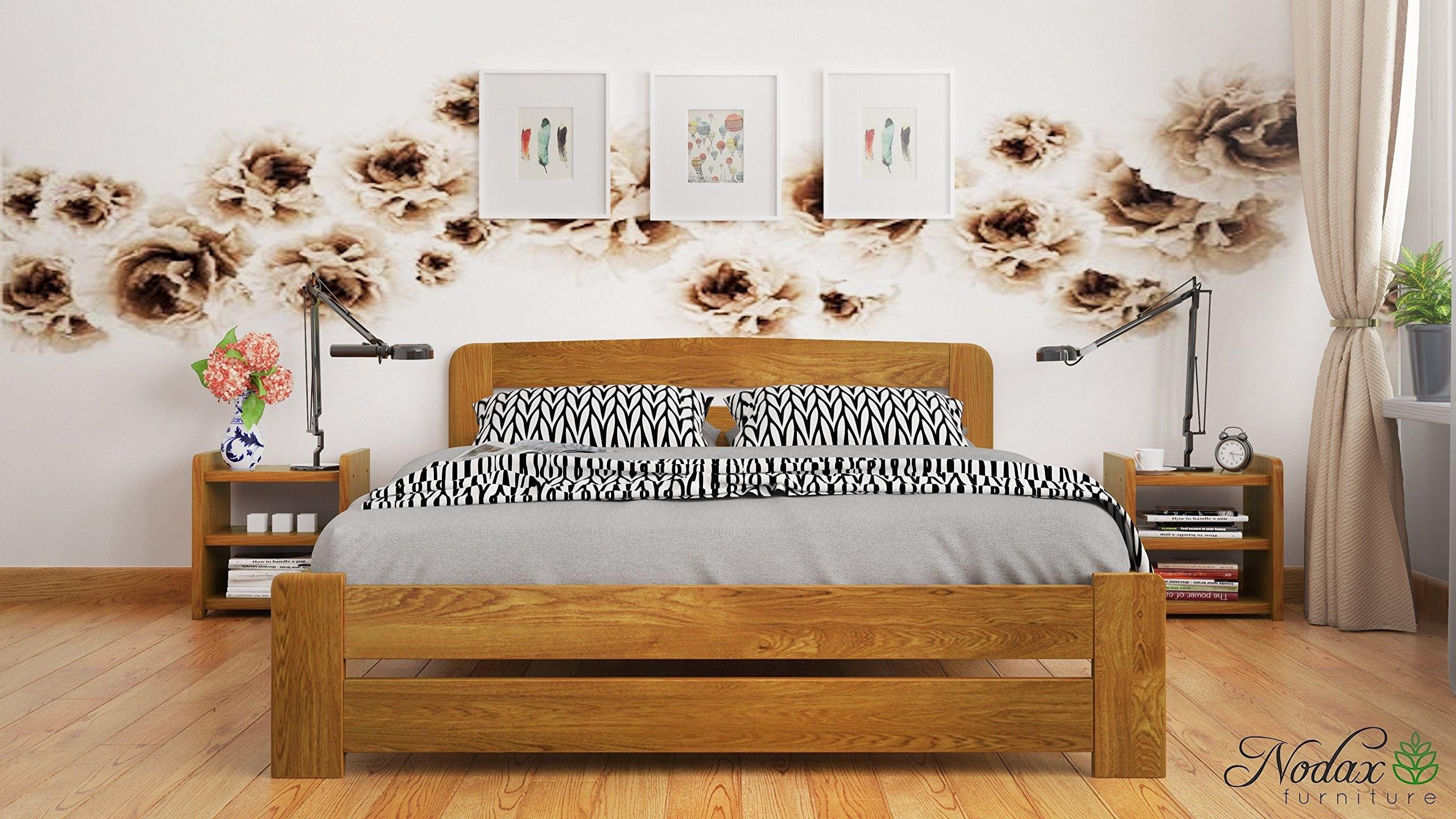 Bedroom Wooden Furniture Sets Pine bed frame, Furniture