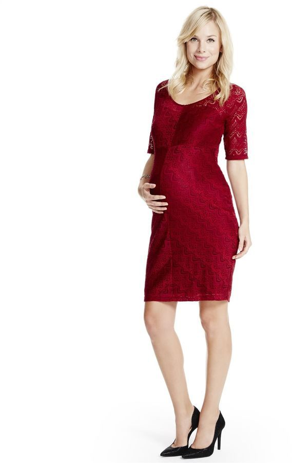 f11d006f13220 Motherhood Maternity Jessica Simpson Lace Maternity Dress jessica Simpson  Maternity Dress elbow Sleeve scoop Neck knee Length lace lace nylon /  Spandex ...
