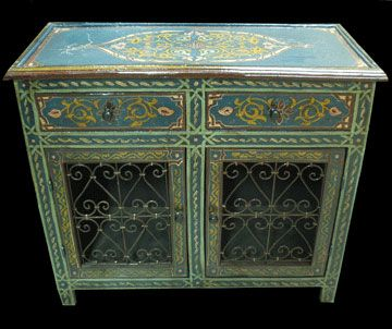 Moroccan handpainted furniture google search morocco for Moroccan hand painted furniture