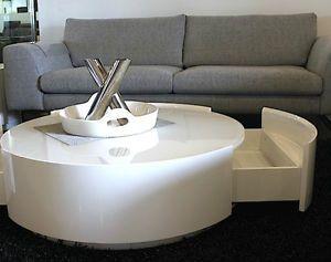 modern contemporary storage high gloss white coffee table calgary