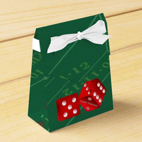 Craps Table With Las Vegas Dice Favor Box