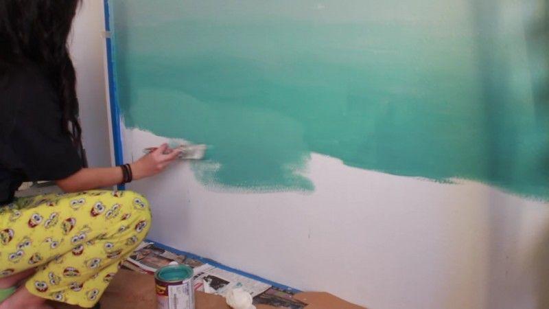 Fliessender Ubergang Wandfarbe Ideen Wande