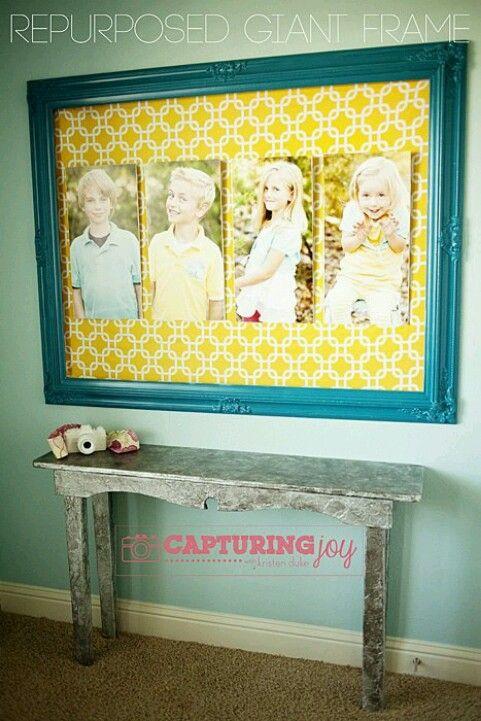 Repurposed Giant Frame Tutorial | Repurposed, Tutorials and Decorating