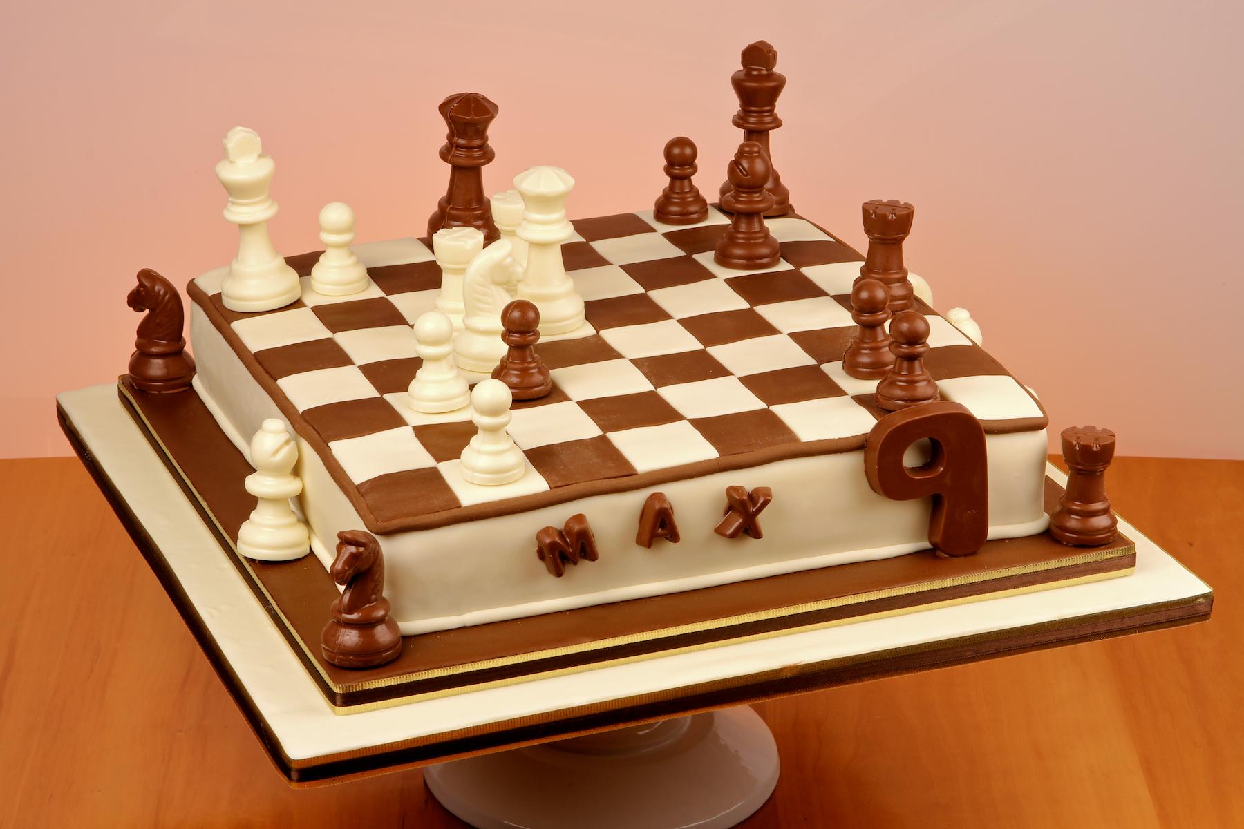 Sensational Chess Board Cake Chess Cake Cake Designs Birthday Boy Birthday Funny Birthday Cards Online Overcheapnameinfo