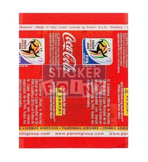 Panini WM 2010 Coca Cola Tüte Südamerika hinten