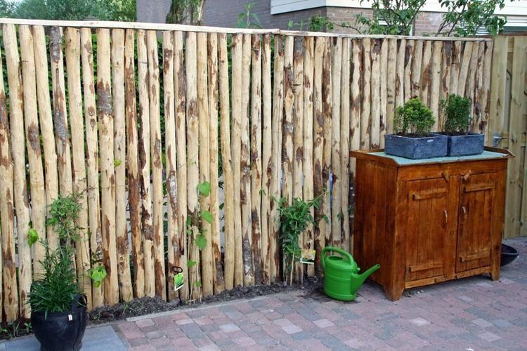 Schutting wood constructions pinterest schutting for Decoratie schutting