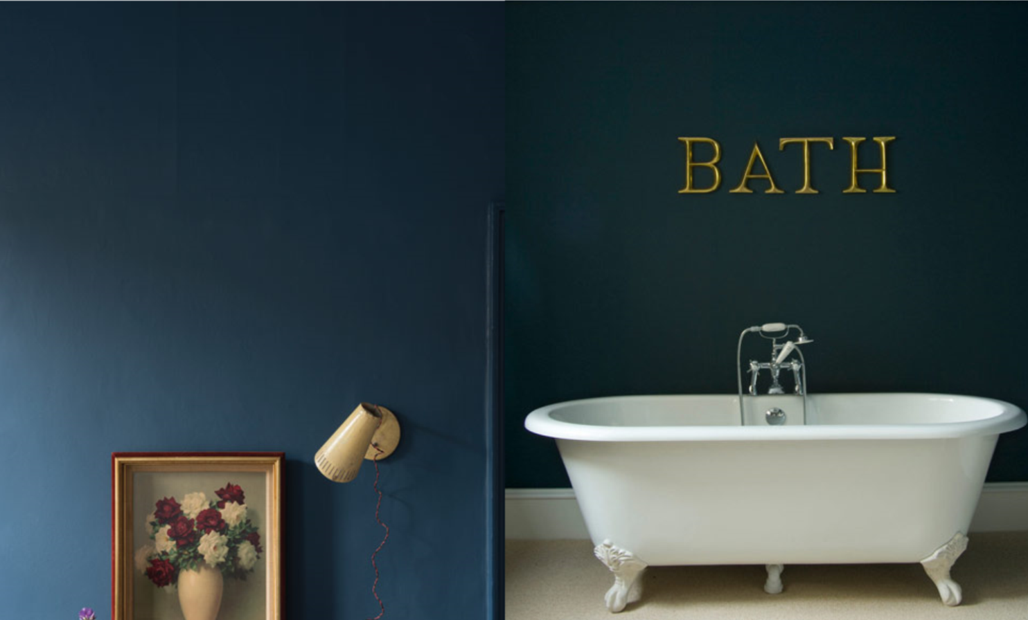 farrow and ball stiffly blue left hague blue right paint colors pinterest stiffkey. Black Bedroom Furniture Sets. Home Design Ideas