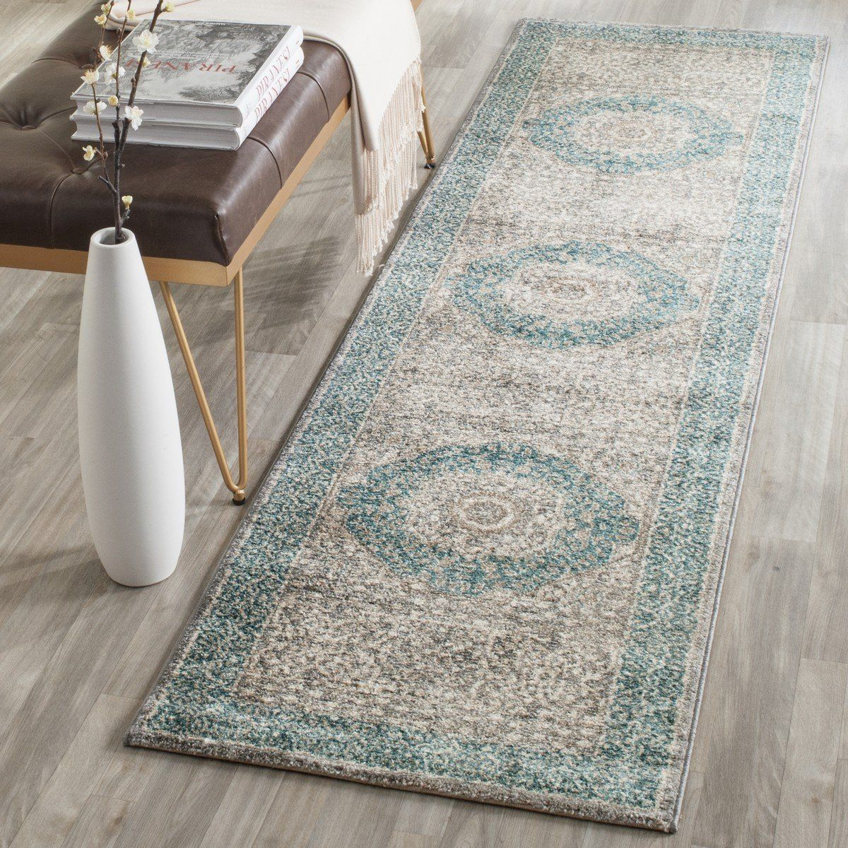 Safavieh Sofia Sof365a Light Grey Blue Products Rugs