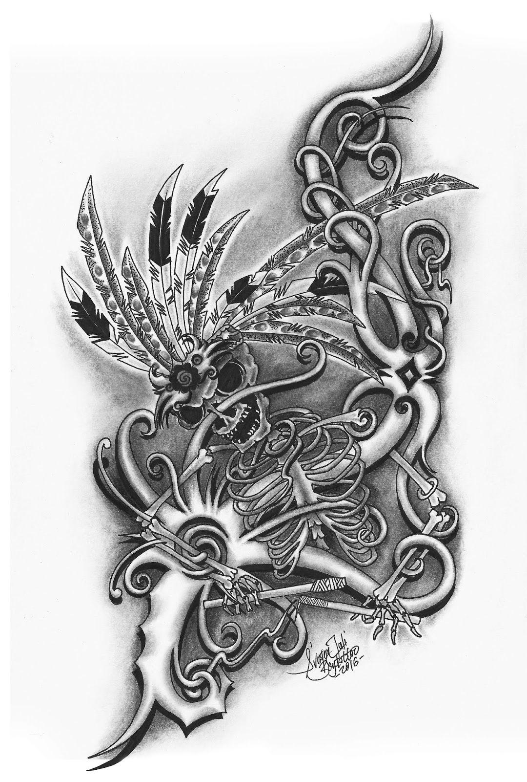 Pin Oleh Septia Jilken R Di Seni Tato Borneo Ide Tato Seni Tato