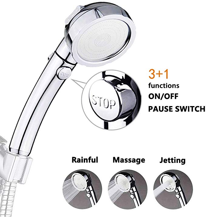 Nosame Shower High Pressure Handheld Shower Head With On Off