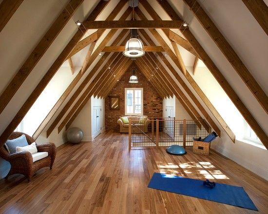 20 Enchanting Home Gym Ideas Decor Charm Home Gym Design Attic Spaces Attic Renovation