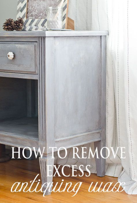 Easy tip for fixing your painted furniture when you ve gone too far with  the antiquing wax! - When Antiquing Goes Wrong! Paint Pinterest Painted Furniture