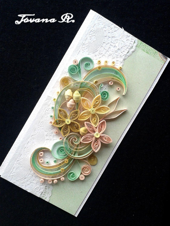 Unique handmade greeting card wedding greeting card for Handmade christmas cards pinterest