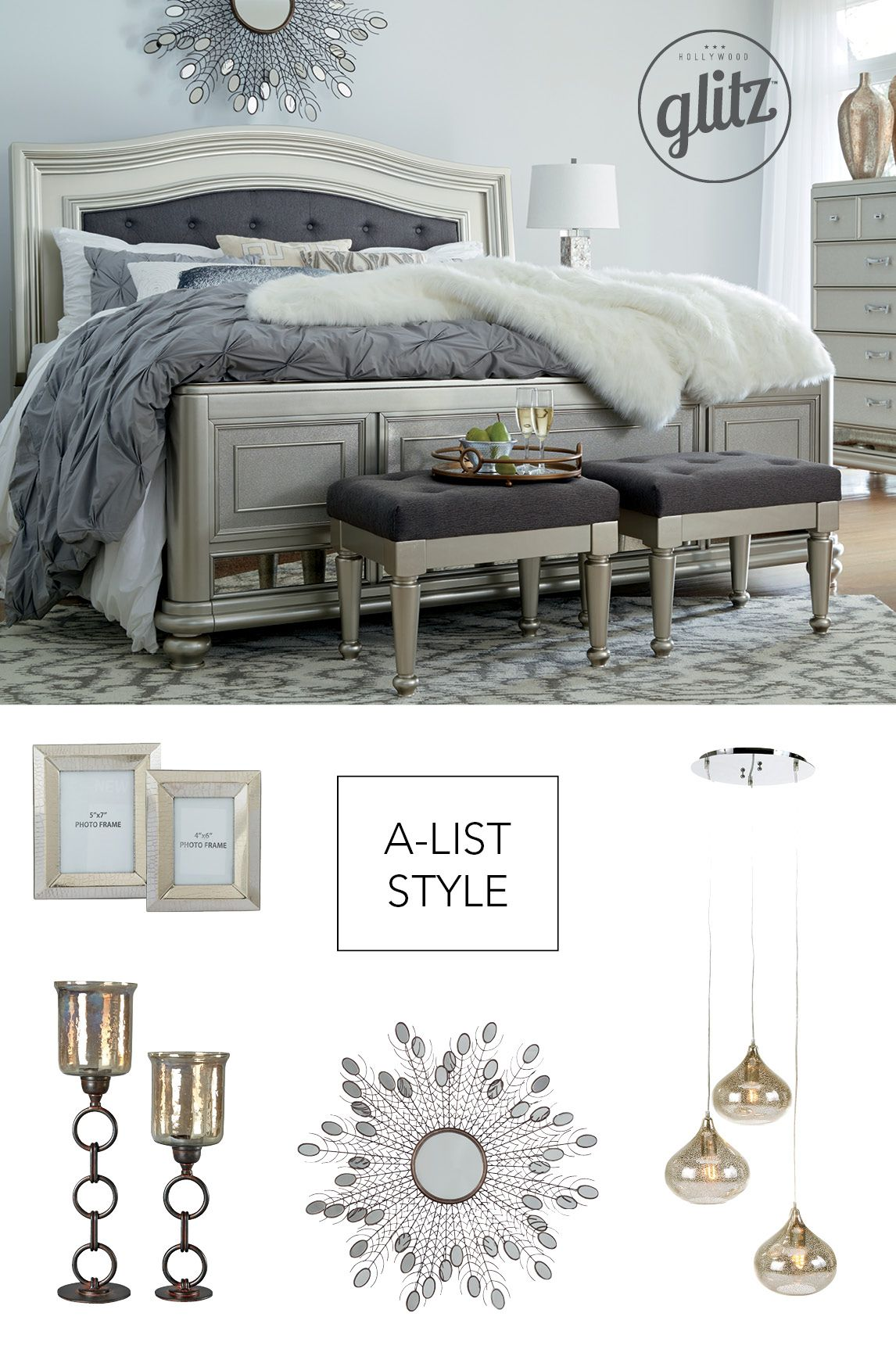 Adding glitz and glam to your bedroom has never been