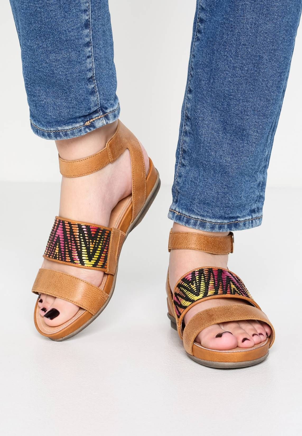 zalando colourful leather sandals