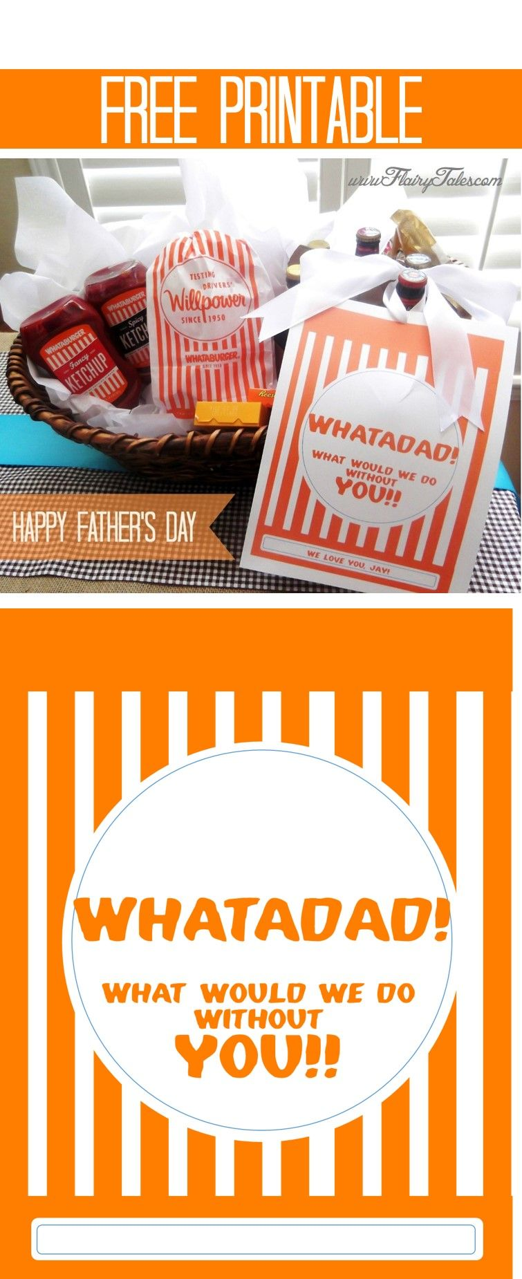 A Whataburger-inspired Father's Day gift basket for Dad! So ...