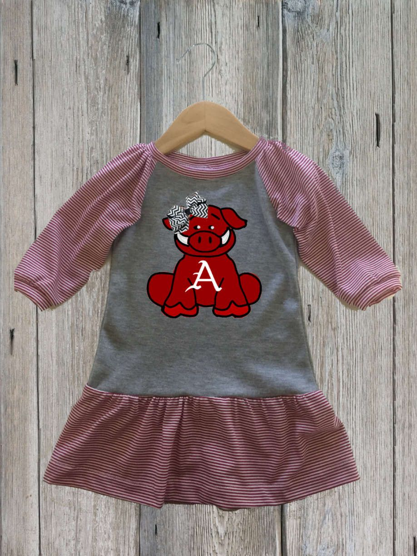 301685779 Baby Razorback Gameday Dress   Hog Callin' Gear   Dresses, Arkansas ...