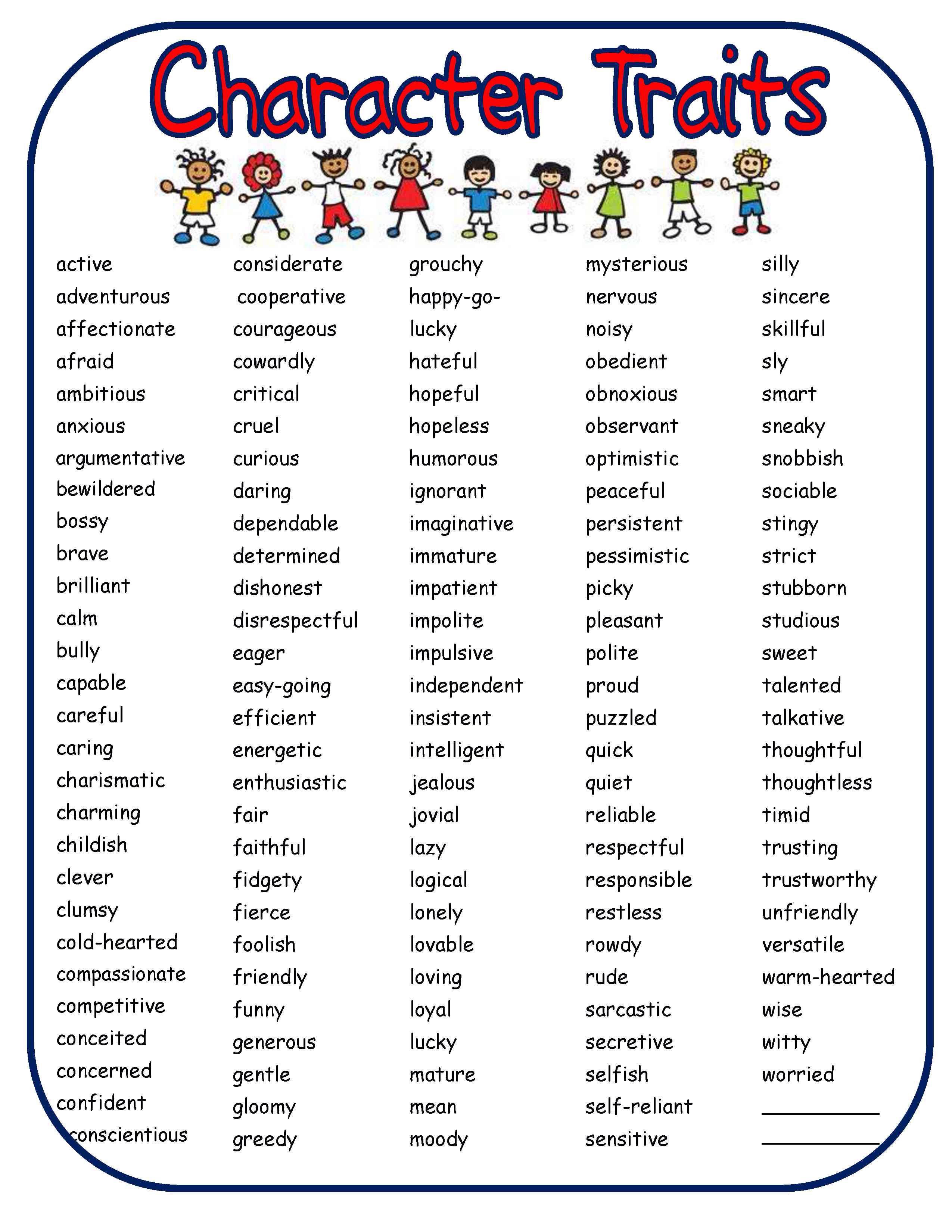 Image From Http Www Scholastic Com Teachers Sites Default Files Posts U133 Images Ch Self Esteem Worksheets Self Esteem Activities Character Trait Worksheets