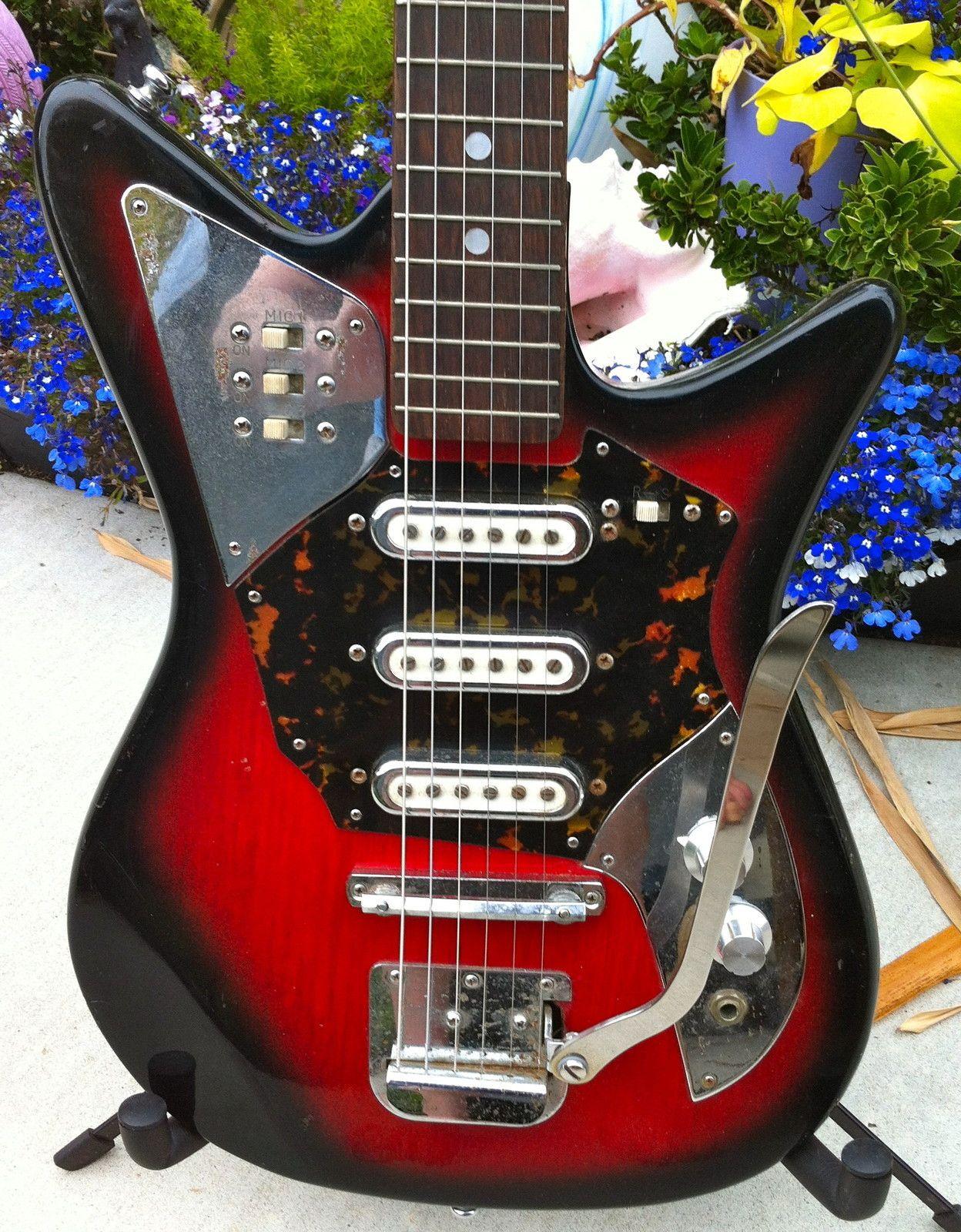 Ultra RARE Vintage 60's St George RedBurst Guitar