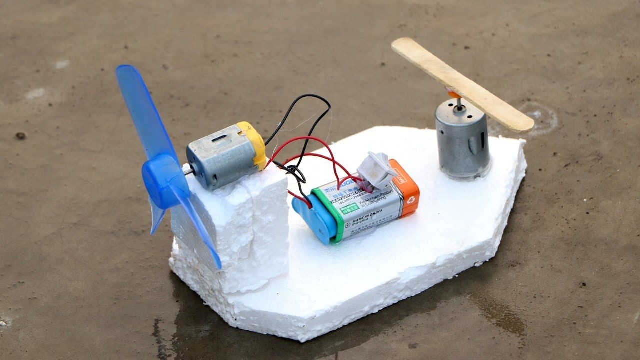 How to make Powerful Electric Motor Boat using DC Motor