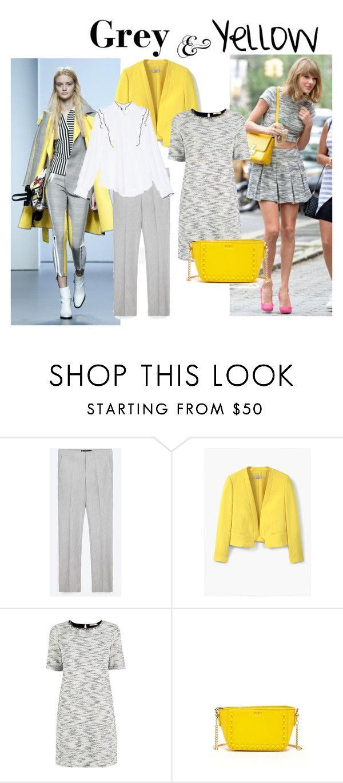 """Grey & Yellow"" by casualcuidado ❤ liked on Polyvore featuring Zara, MANGO, Oasis, SUSU, yellow, grey, fashionset and casualcuidado"