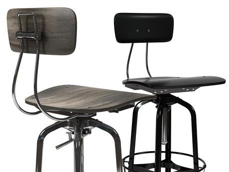 Restoration Hardware Vintage Toledo Bar Chair 3d model   N/A - Vintage Toledo Bar Chair Bar Chairs, Restoration Hardware And