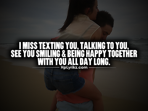 i miss texting you