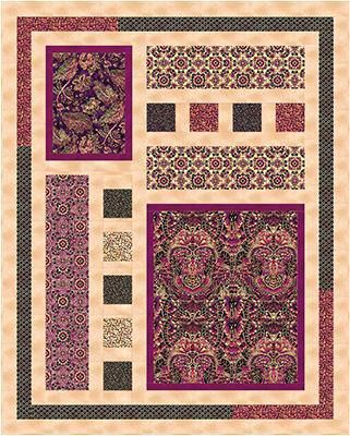 Quilts Made Using Panels Check Out Our Free Limelight Quilt Pattern Classy Quilt Patterns Using Panels