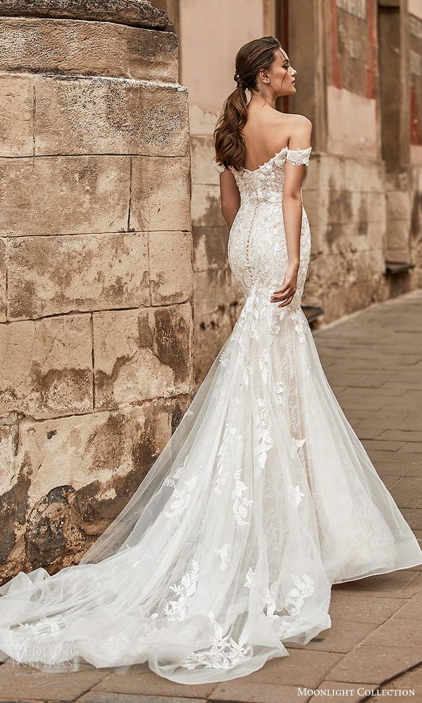 Moonlight Collection Spring 2021 Wedding Dresses Wedding Inspirasi Lace Mermaid Wedding Dress Lace Bridal Gown Wedding Dresses Lace [ 1500 x 900 Pixel ]