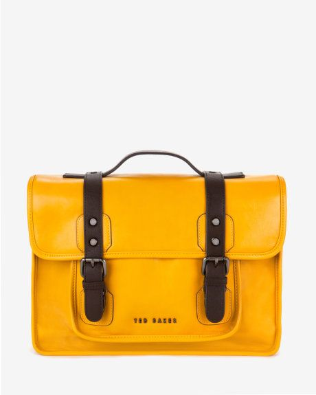 b84114984e8a1d High-shine satchel - Yellow