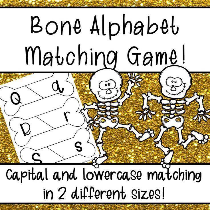 Broken Bone Alphabet Matching Game Upper, lowercase