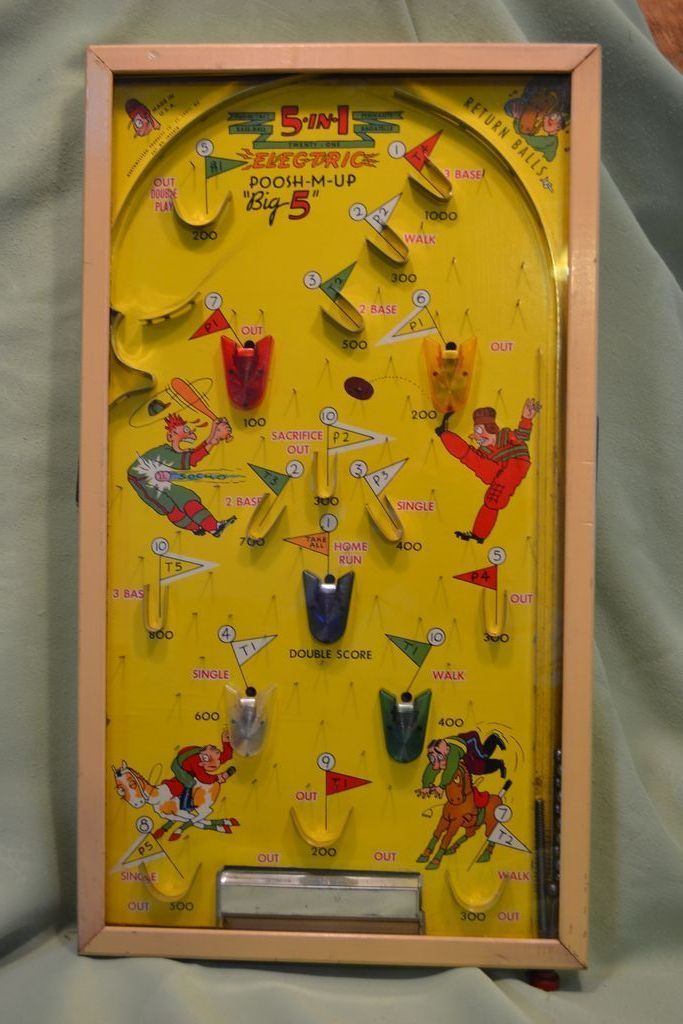 Poosh M Up 5 In 1 Bagatelle Game 1930 S Terry S